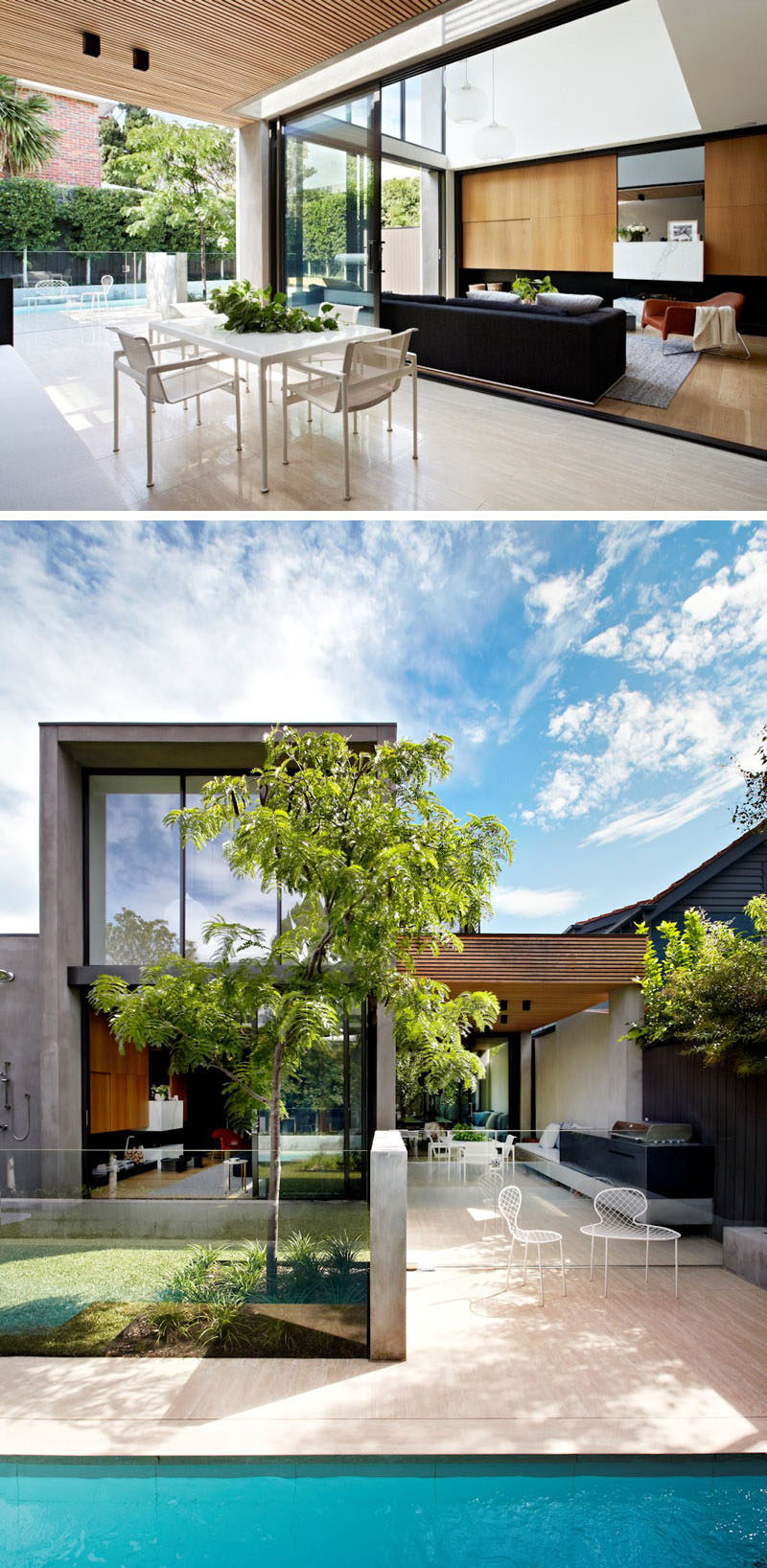 Outdoor living design with bbq area from a real australian home - 23 Awesome Australian Homes That Perfect Indoor Outdoor Living The Living Room Of