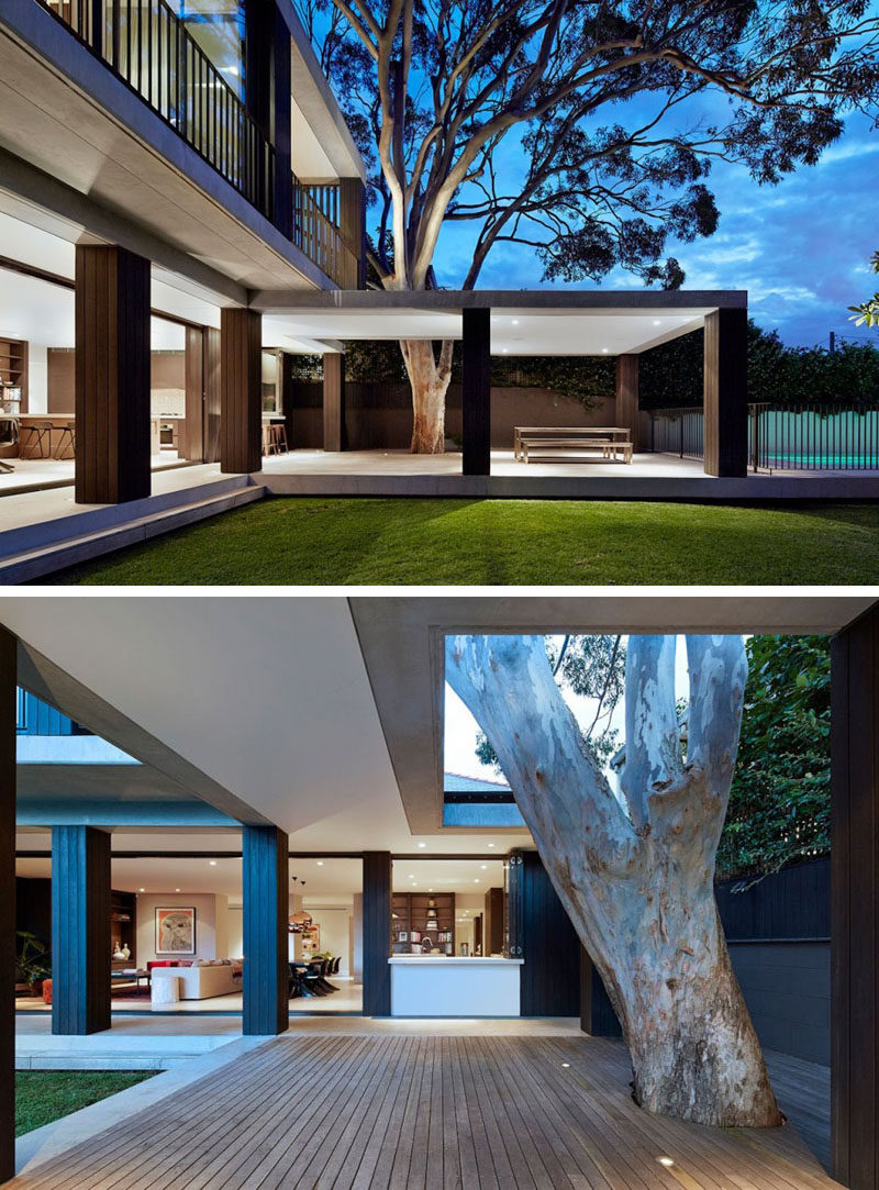 Outdoor living design with bbq area from a real australian home - 23 Awesome Australian Homes That Perfect Indoor Outdoor Living The Bottom Level Of