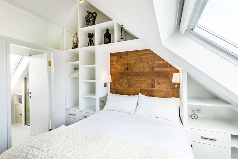 Bedroom Design Ideas - 8 Ways To Create The Ultimate Bed Surround With Storage // Use Open and Closed Shelving -- Including a combination of both open shelving and closed off drawers and cabinets allows you to keep some things easily accessible and on display, while keeping other things out sight and out of the way.