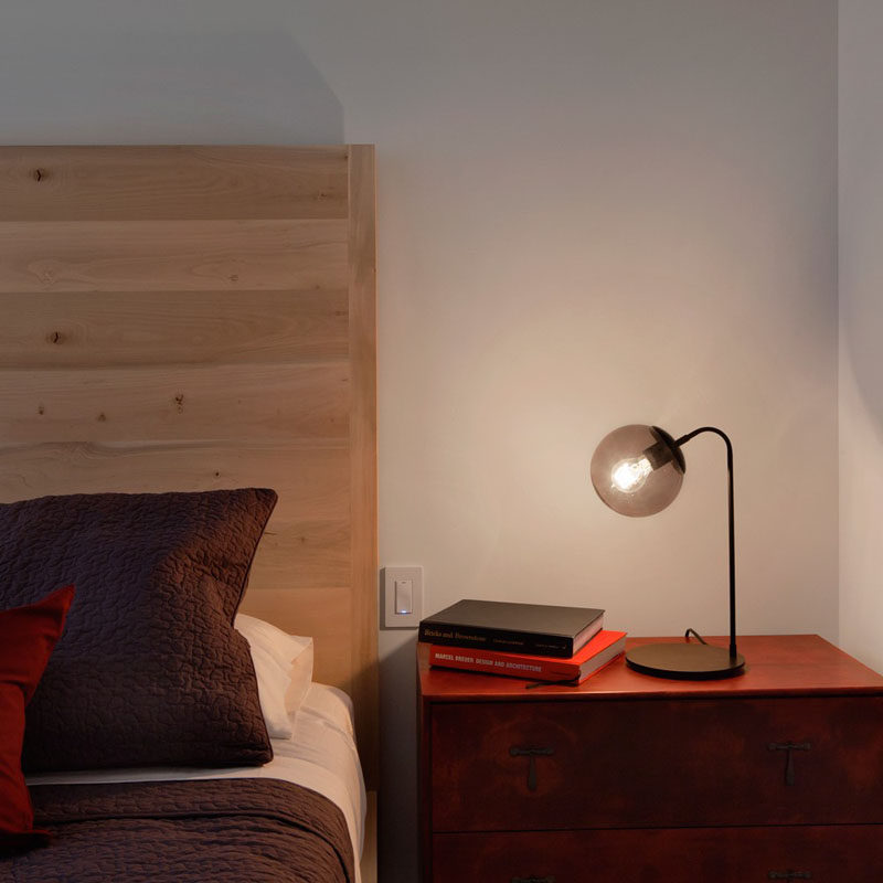 12 Bedside Table Lamps To Dress Up Your Bedroom // Modo desk lamp designed by Jason Miller. Manufactured by Roll & Hill.