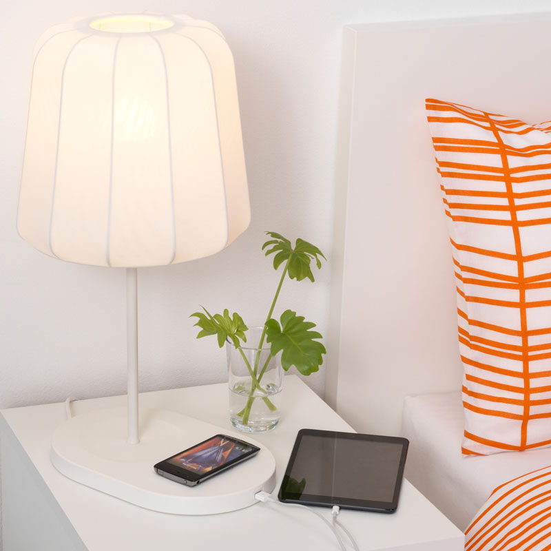 12 Bedside Table Lamps To Dress Up Your Bedroom // VARV table lamp from IKEA.