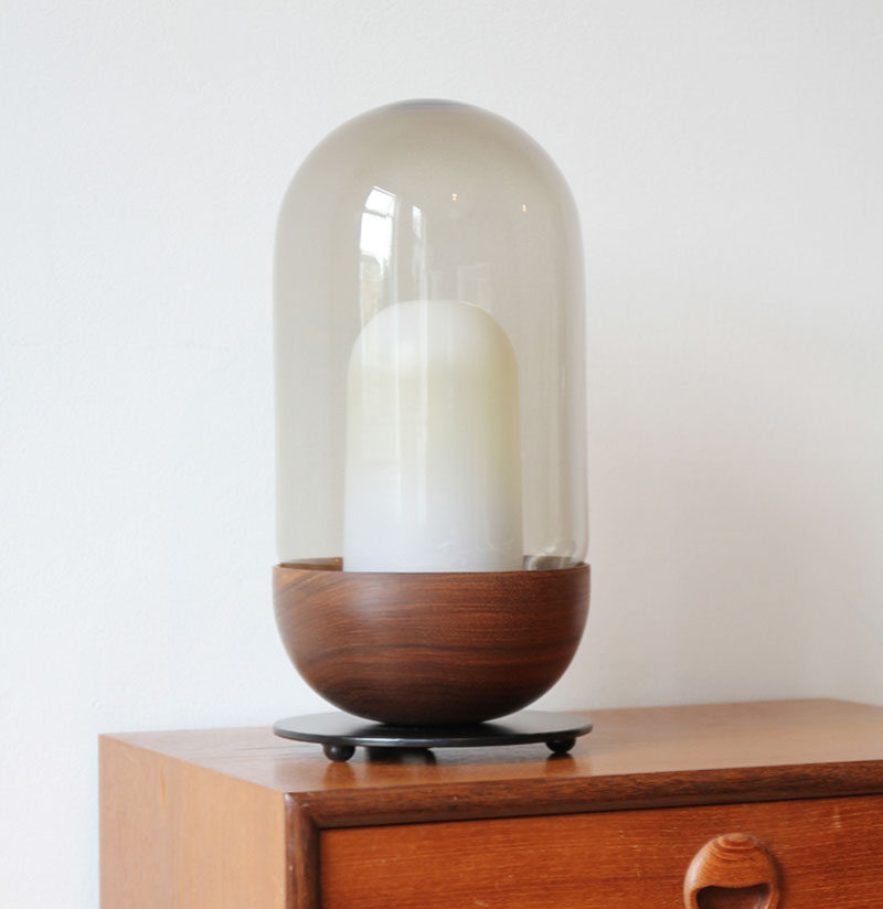 12 Bedside Table Lamps To Dress Up Your Bedroom // Bell lamp by Magnus Pettersen Studio.