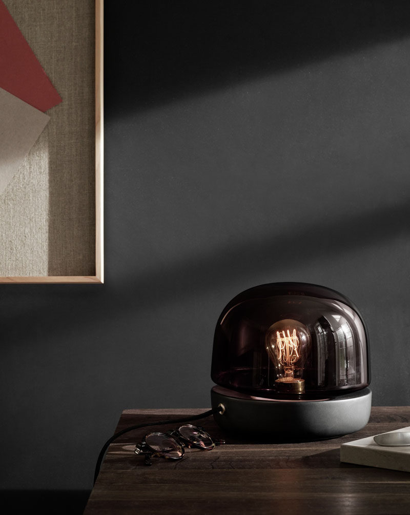 12 Bedside Table Lamps To Dress Up Your Bedroom // Stone Lamp designed by Norm Architects. Manufactured by Menu.
