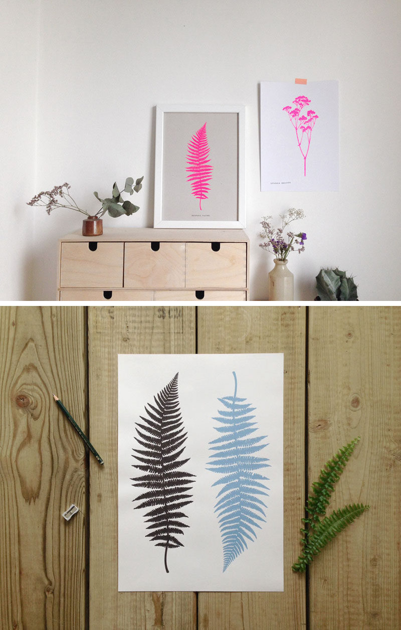 17 Ways To Introduce Botanical Designs Into Your Home Decor // A modern twist on the botanical silhouette, these solid color silhouette bring in color and keep your decor on trend.