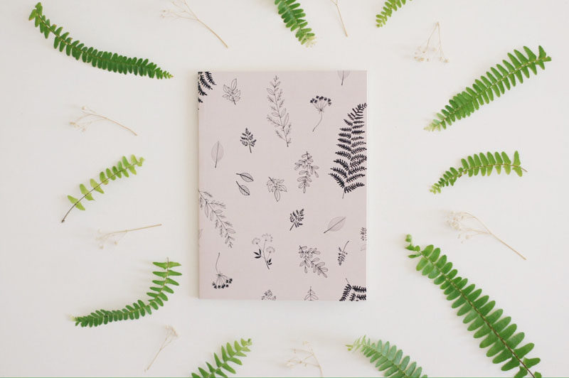 17 Ways To Introduce Botanical Designs Into Your Home Decor // Jotting down notes and to do lists just got a whole lot more stylish thanks to this botanical notebook.