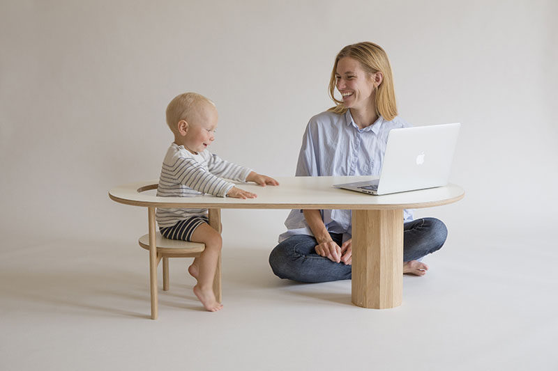 Designer Kunsik Choi has created Boida, a coffee table that doubles as a seat for the little ones in your life or as a magazine / book holder.