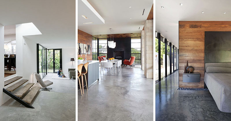 23 pictures that show how concrete floors have been used for Concrete floors in house