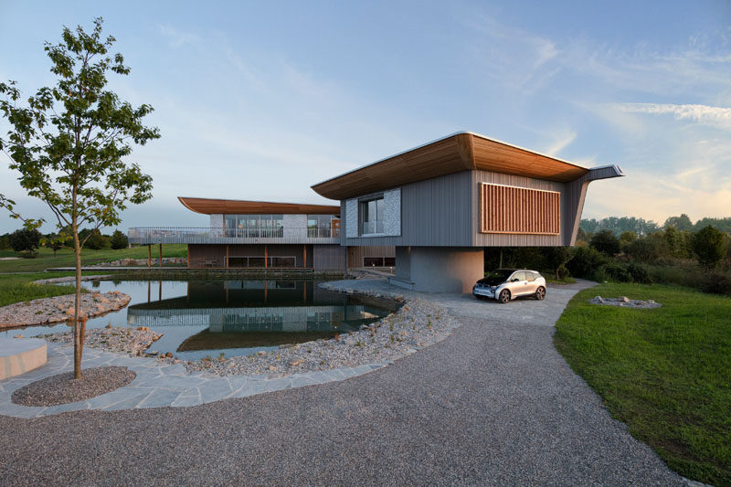 Alfredo Häberli Design Development have recently completed a home designed to showcase Baufritz's expertise in wood home construction