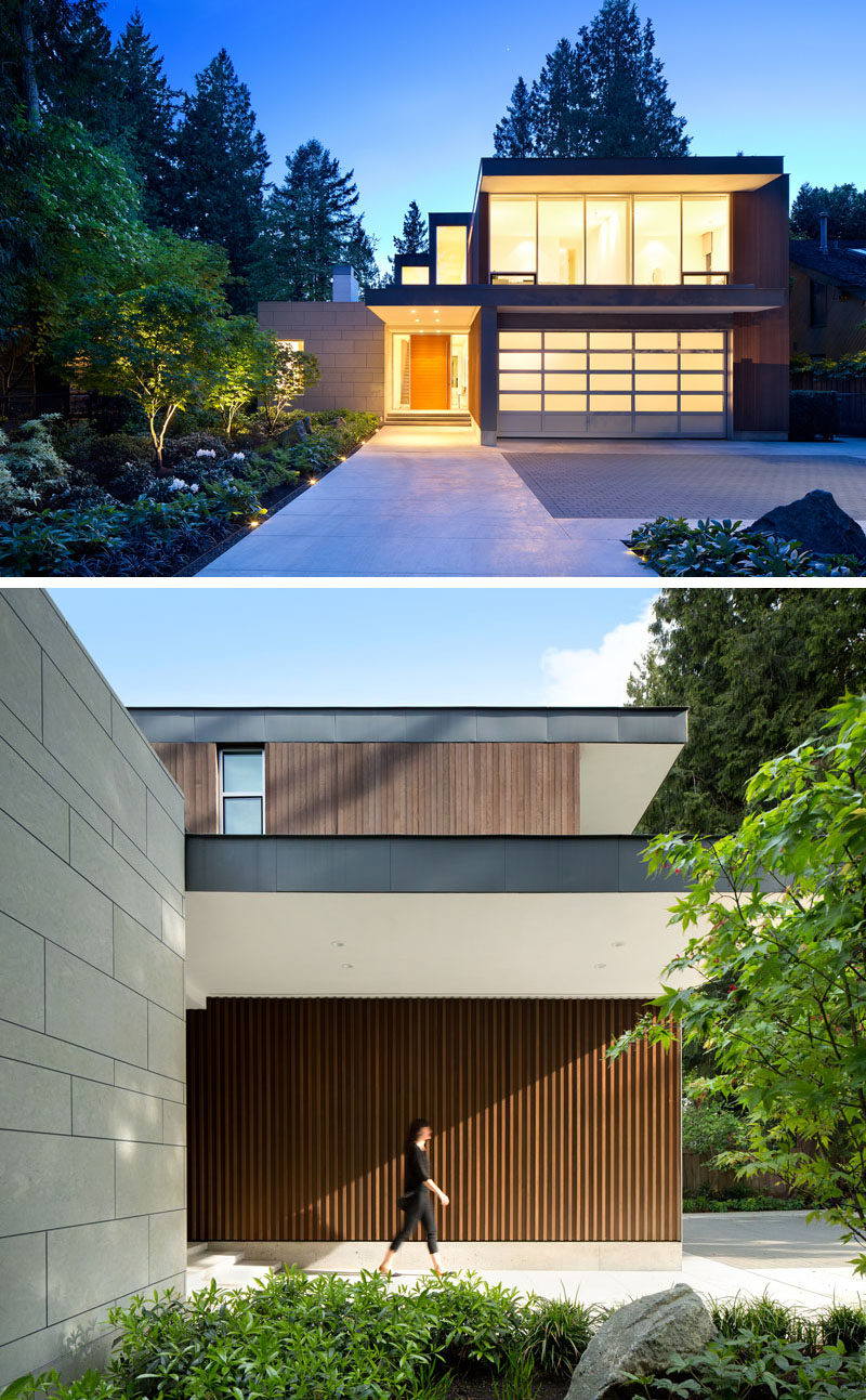 James K.M. Cheng Architects have designed this house in Vancouver, Canada, that is positioned on a lot 350 feet in length and is surrounded by mature evergreen trees and high garden hedges.