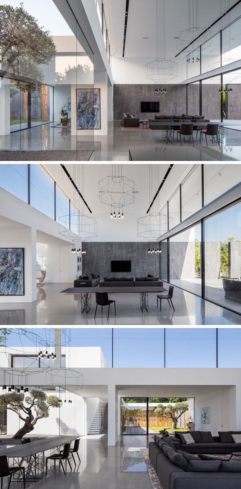 This Minimalist Home Of Double Height Ceilings And Large