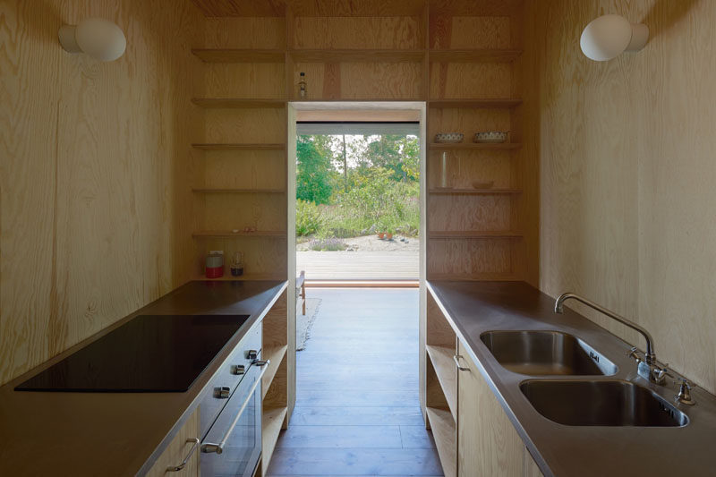 Simple materials have been used in the design of this summer house in Sweden.