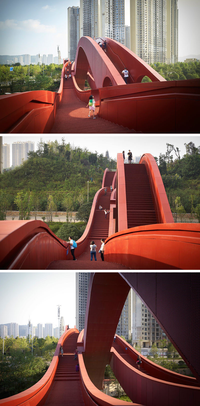The Lucky Knot Bridge Opens In Changsha, China