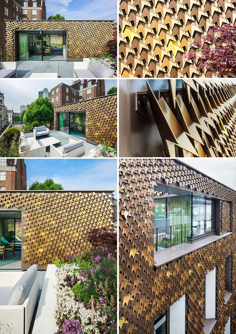 Exterior Design Ideas - 15 Buildings That Have Unique And Creative Facades // 4080 metal shingles in the shapes of leaves cover the facade of this London home.