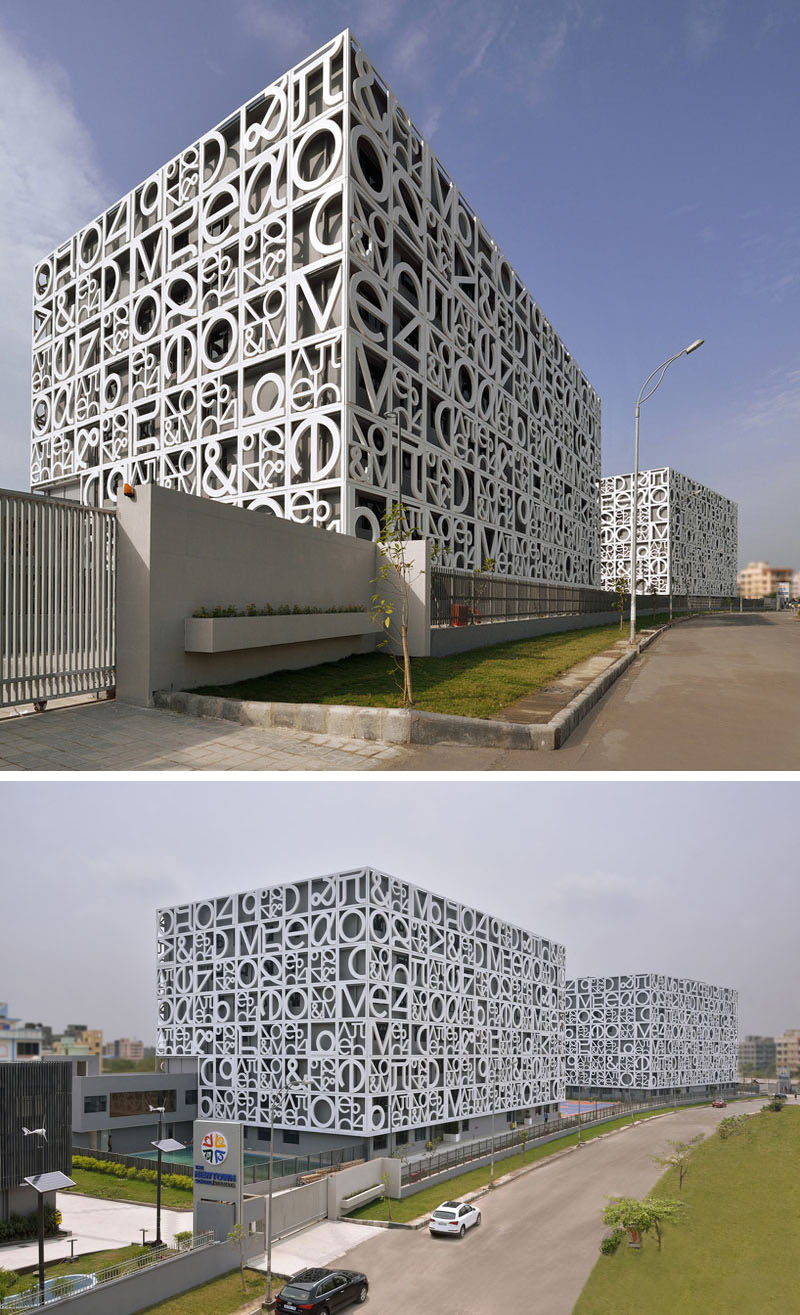 15 buildings that have unique and creative facades for Exterior design of building