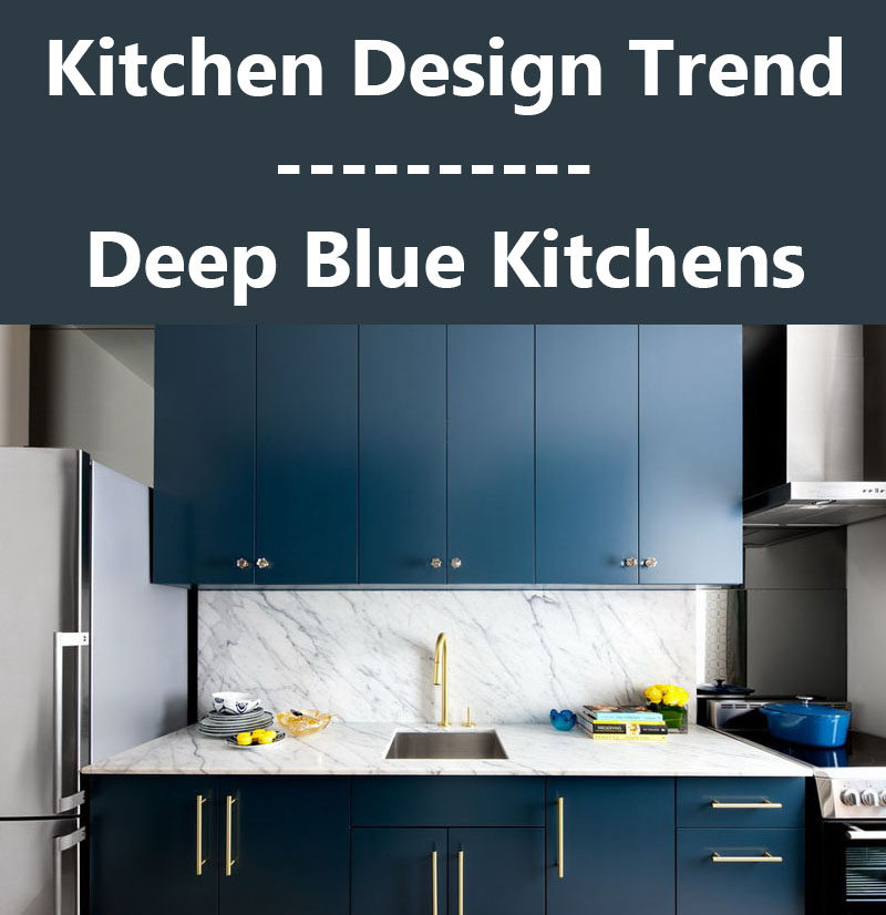 Kitchen Design Ideas - Deep Blue Kitchens (9 photos of different examples)