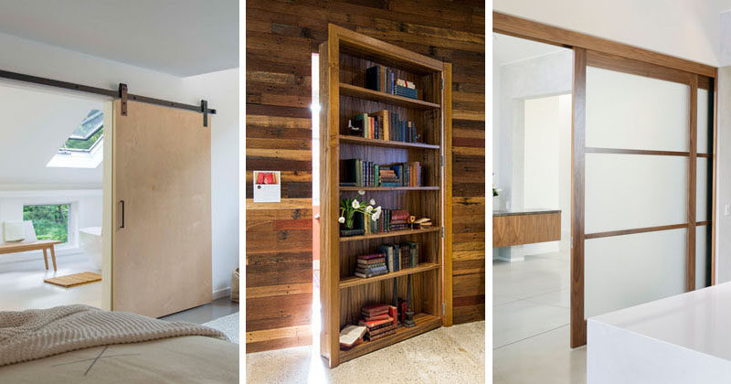 Interior Design Ideas - 5 Alternative Door Designs For Your Doorways //  Pocket Doors