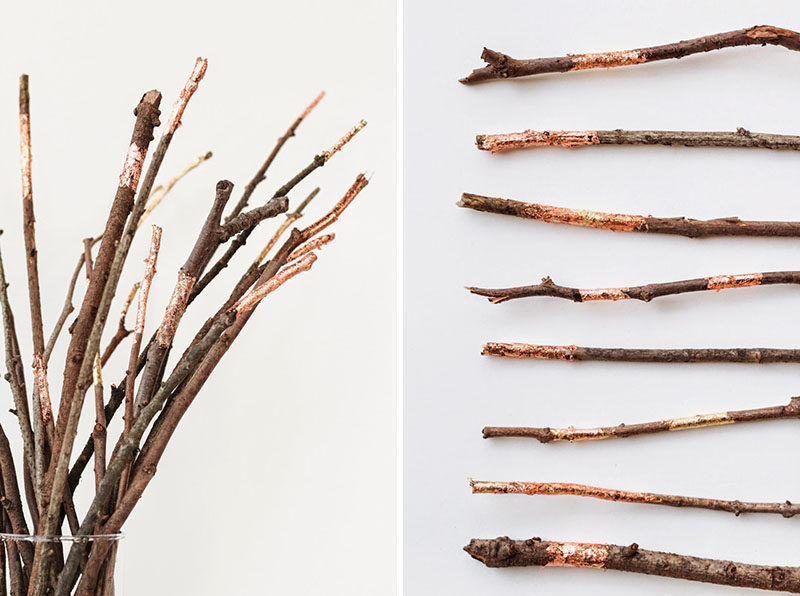 8 Ideas For Bringing Fall Decor Into Your Home // Bring The Outdoors In -- Twigs, branches, leaves, pinecones, berries, cotton, or anything else you can find in your yard can be brought inside, placed in vases, painted if you wish, and used as simple decor pieces.