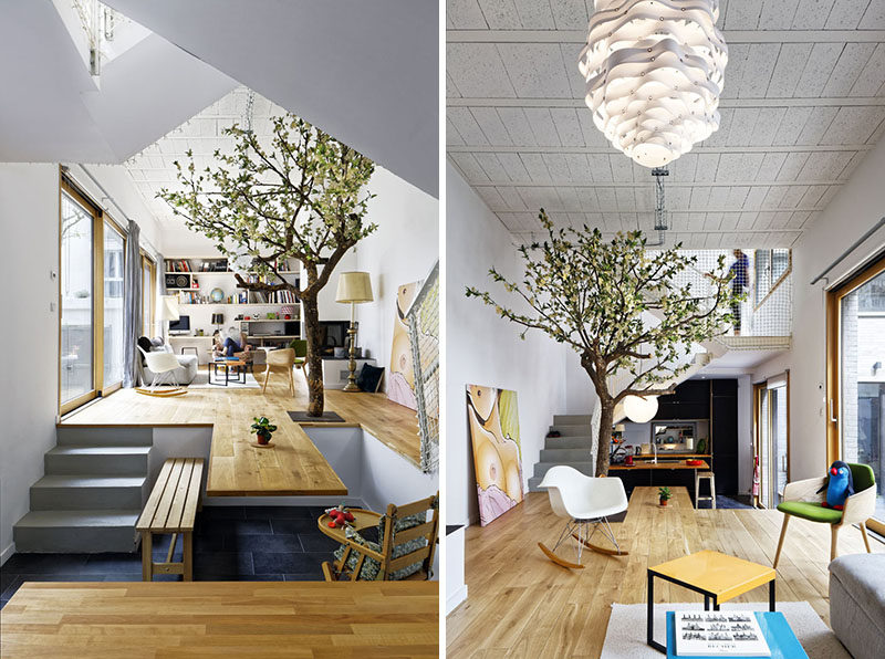 The floor of this living room becomes the dining table | CONTEMPORIST
