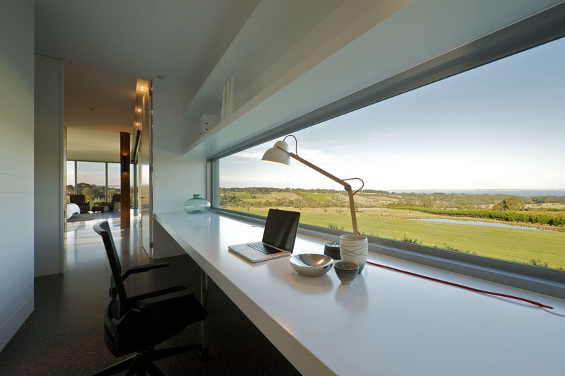 Interior Design Idea - 13 Examples Of Desks In Hallways // This desk overlooks the countryside and provides the perfect spot to find some inspiration.