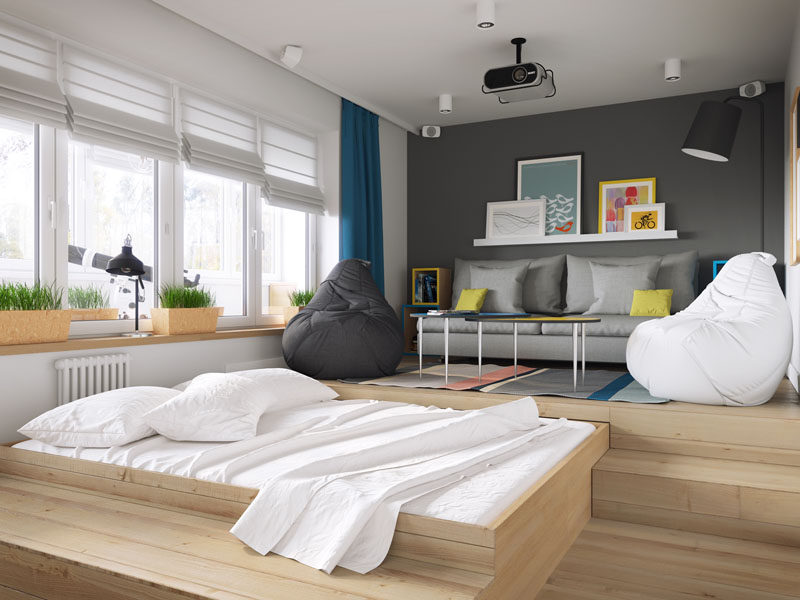 A Clever Design Solution For A Bed In A Small Apartment