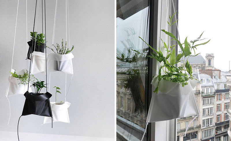 Indoor Garden Ideas - Hang Your Plants From The Ceiling & Walls // These Pot Cradles are designed to allow you to hang your plants anywhere. They're lightweight, adjustable, and can be hung on pretty much anything.