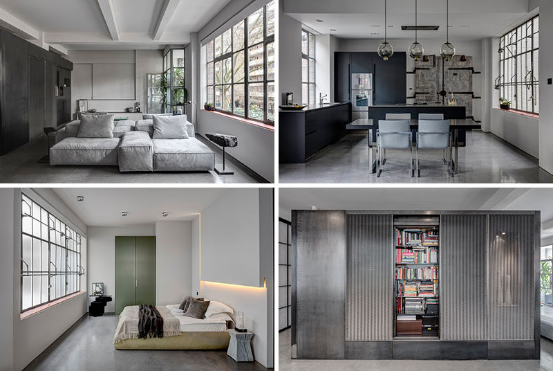 This apartment's industrial interior was inspired by the old factory space it was built in