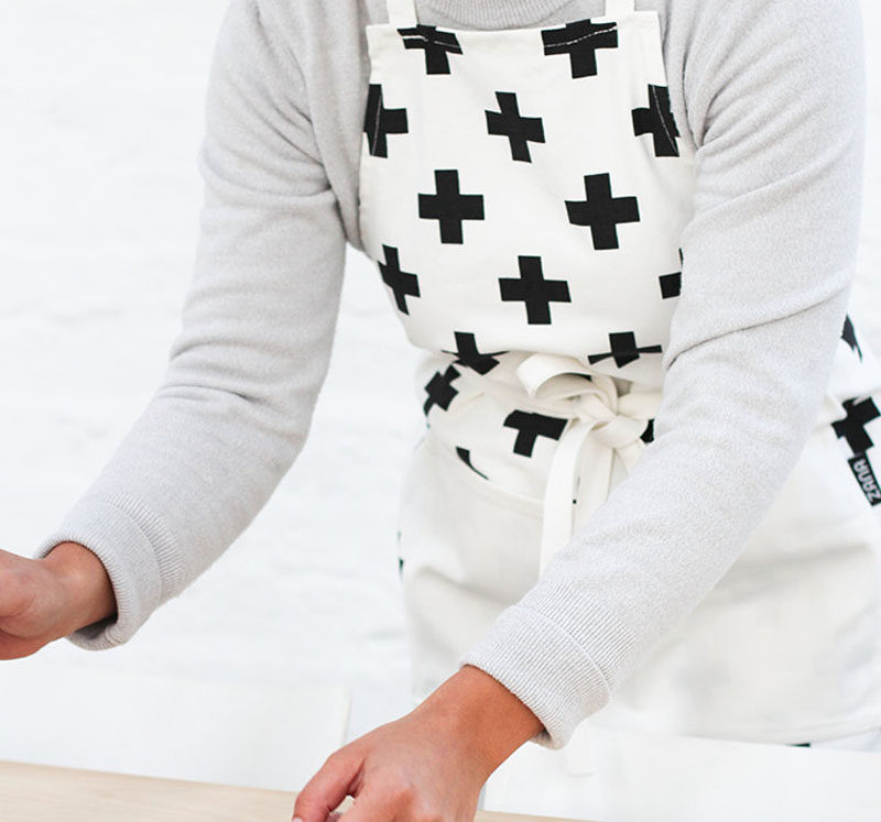 Gift Ideas For People Who Love To Cook // With food flying this way and that, aprons are essential items to have on hand when getting preparing anything that might get away from you.