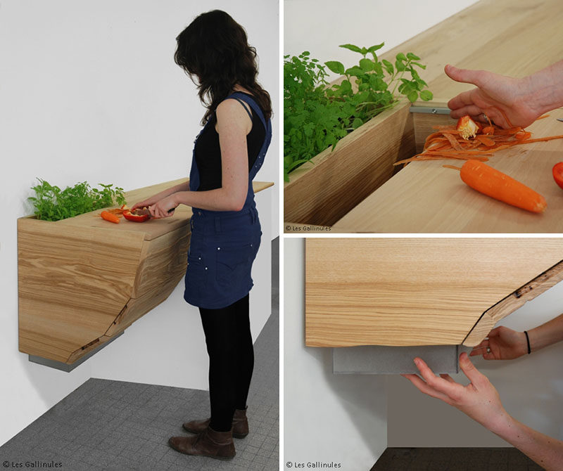 Hole Garbage Chute : Kitchen design idea include a trash chute in your