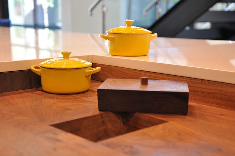 Kitchen Design Idea - Include A Trash Chute In Your Counter
