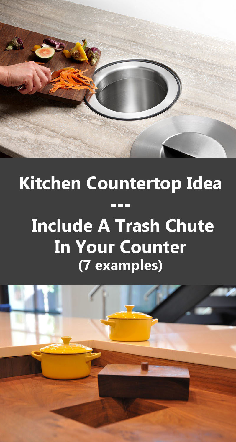 Countertop Trash Chute
