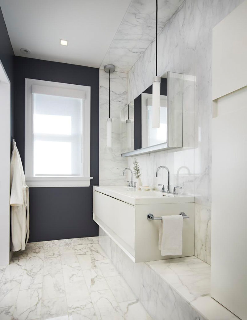 Bathroom Design Idea - 5 Ideas For Adding Marble To Your Bathroom // Marble Floor Tiles