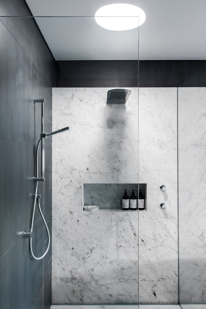 Bathroom Design Idea - 5 Ideas For Adding Marble To Your Bathroom // A marble shower amplifies your feelings of relaxation and turns your bathroom into a place you're never going to want to leave. It's elegant, it's timeless, it's marble.