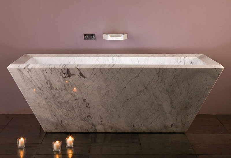 Bathroom Design Idea   5 Ideas For Adding Marble To Your Bathroom // Marble  Tubs