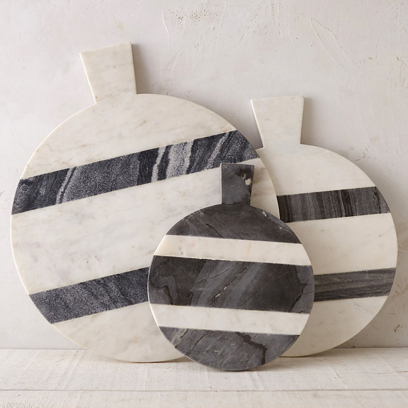 Kitchen Design Idea - How To Add Marble In Your Kitchen // Serve your hors d'oeuvres off of marble serving trays to get both an arm work out and compliments on your stylish serveware.