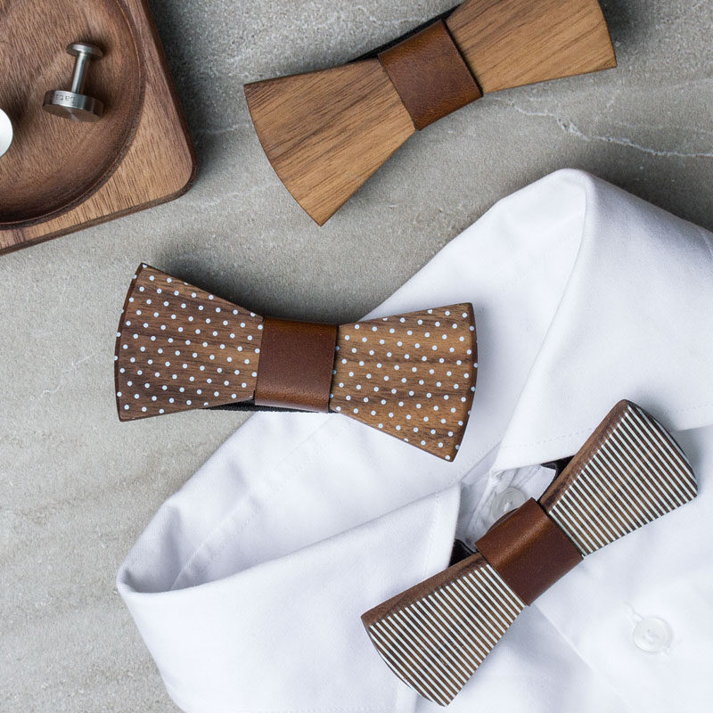 The Ultimate Gift Guide For The Modern Man (40+ Ideas!) // Wooden Bow Ties