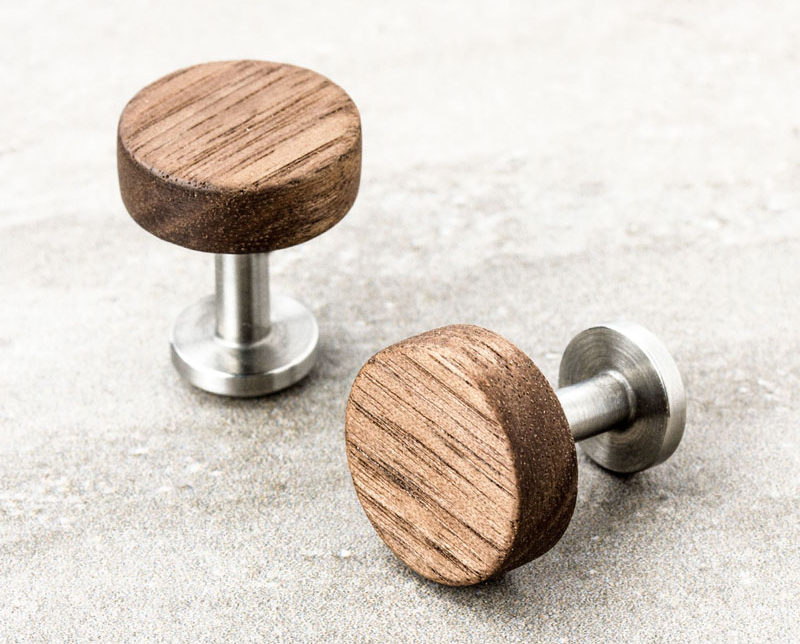 The Ultimate Gift Guide For The Modern Man (40+ Ideas!) // Wooden Cuff Links