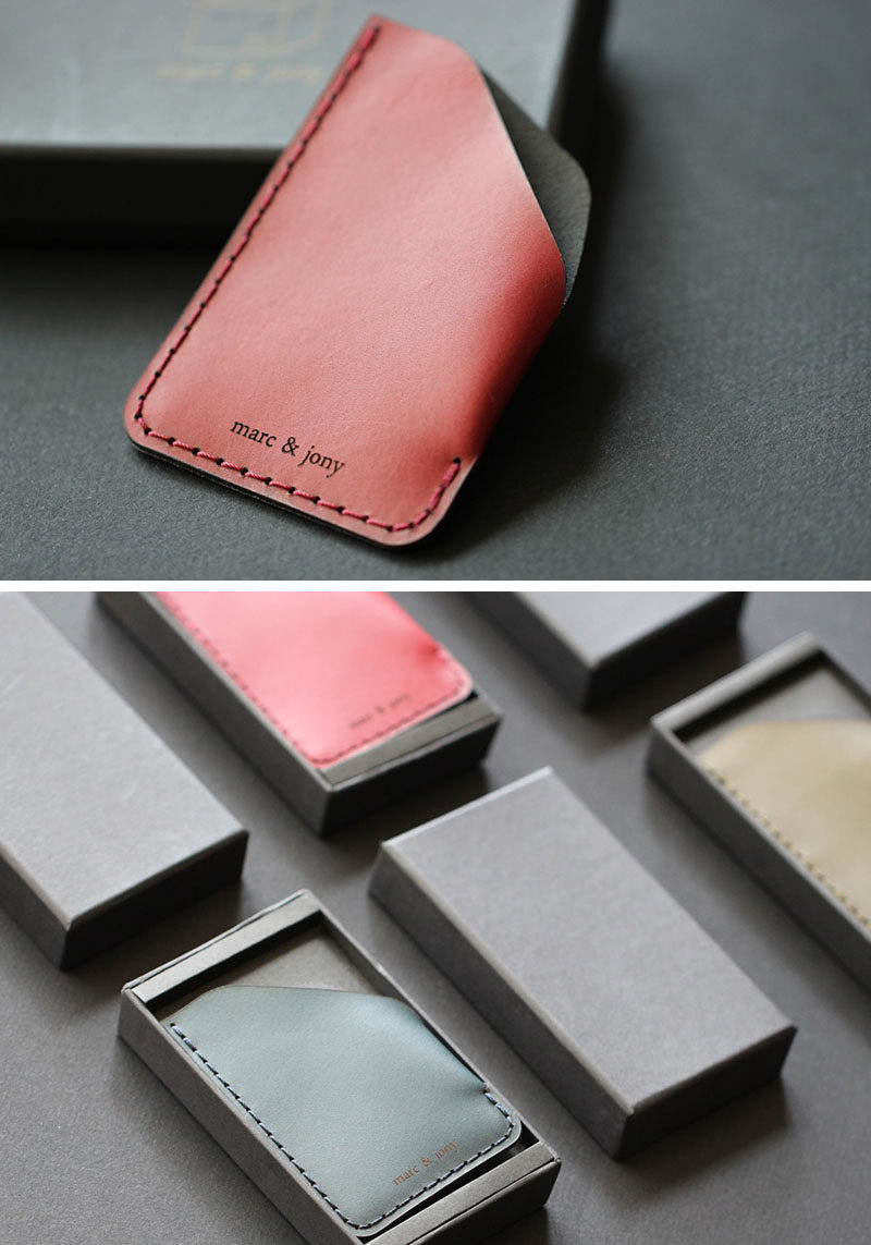 The Ultimate Gift Guide For The Modern Man (40+ Ideas!) // A Super Thin Minimalist Leather Card Wallet