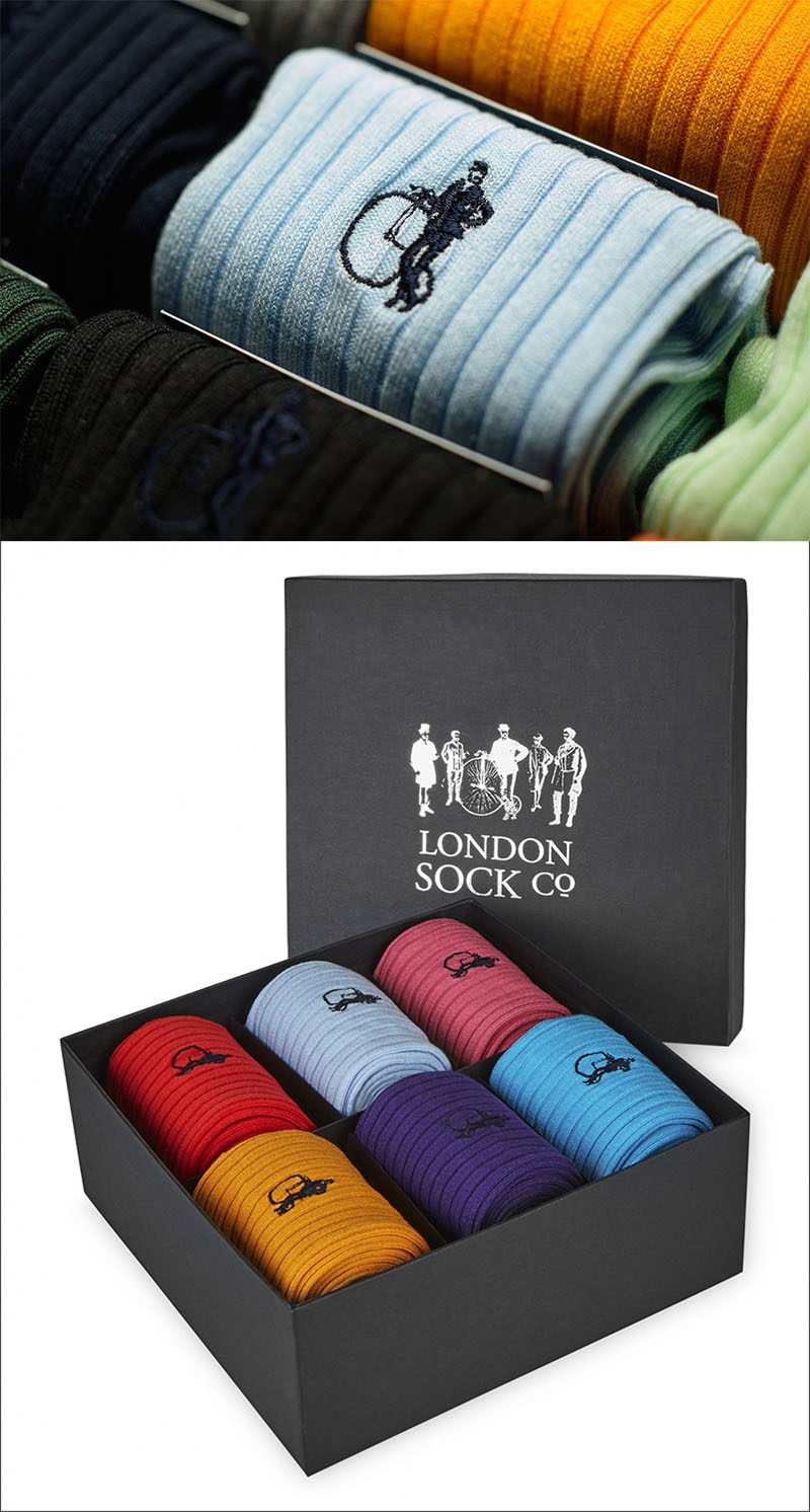 The Ultimate Gift Guide For The Modern Man (40+ Ideas!) // Contemporary Plain Colorful Socks