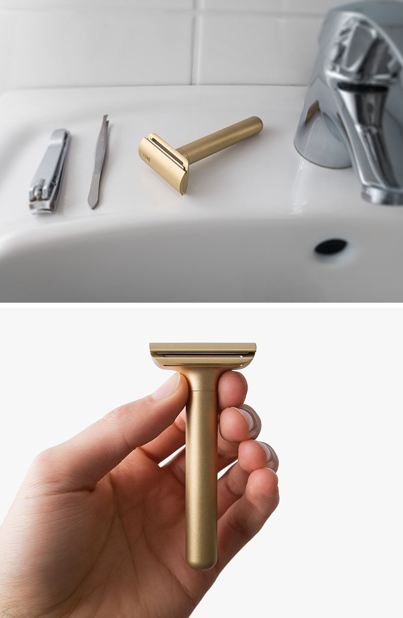 The Ultimate Gift Guide For The Modern Man (40+ Ideas!) // A Brass Minimalist Razor