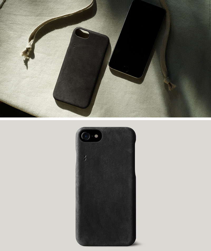 mens_gifts_191016_32The Ultimate Gift Guide For The Modern Man (40+ Ideas!) // A Sleek Black Leather Phone Case