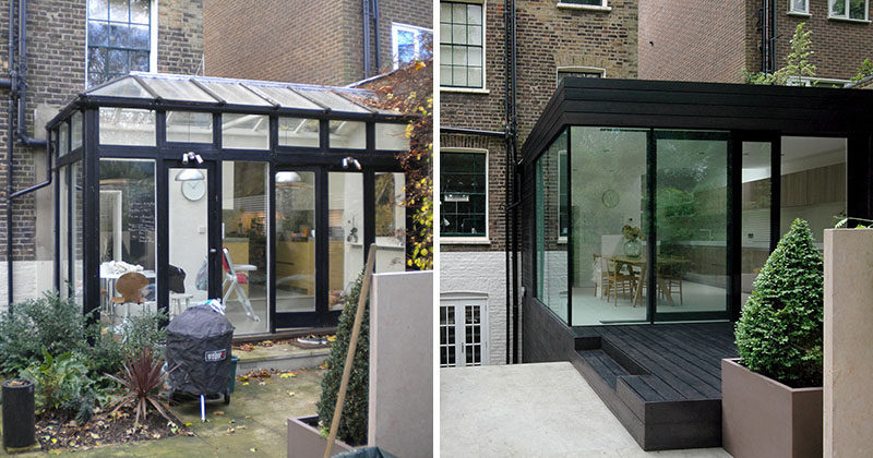 Before And After House Extension - from cold and leaky conservatory to modern and open.