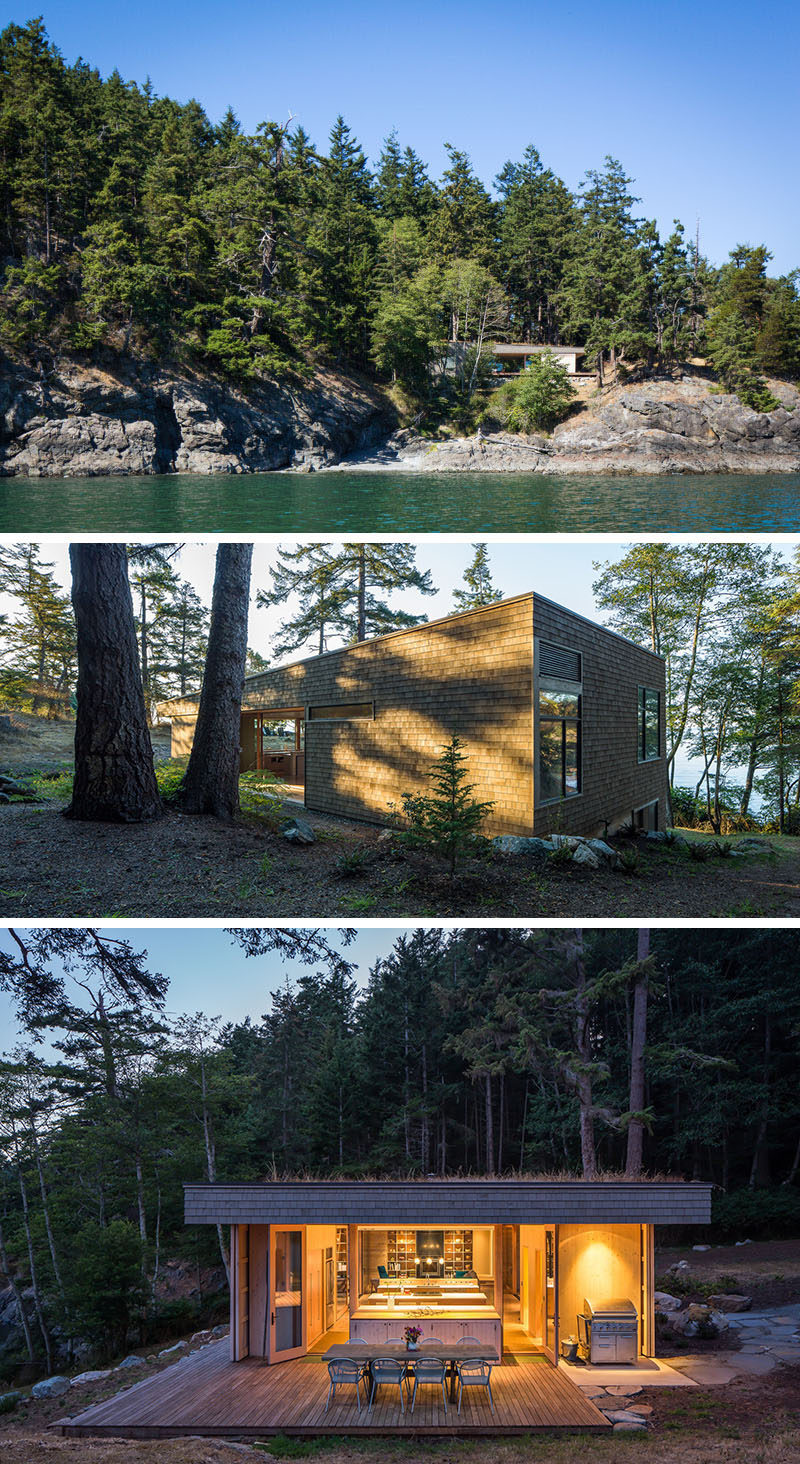 20 Awesome Examples Of Pacific Northwest Architecture // Wood shingles on the side of this home protect it from the elements and help it blend into its environment.