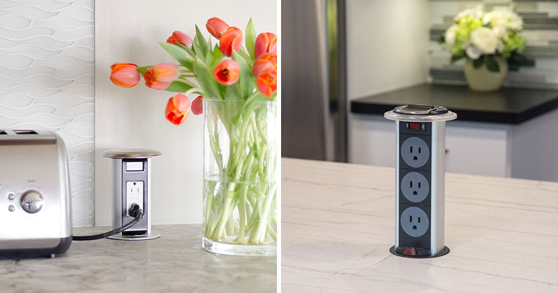 Kitchen Design Idea Install A Pop Up Outlet Directly Into Your Countertop