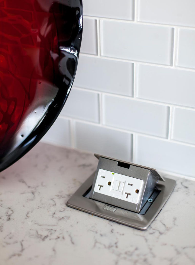 Delightful Kitchen Design Idea   Install A Pop Up Outlet Directly Into Your Countertop