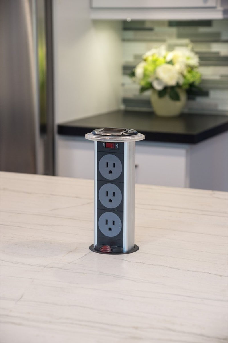 countertops pull plug kitchen table countertop outlet eu charge for product uk worktop socket electrical electronic powersocket retractable pop up usb usa