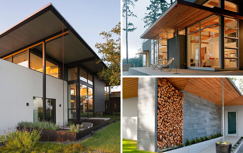 14 Modern Homes That Use Rain Chains To Divert Water | CONTEMPORIST