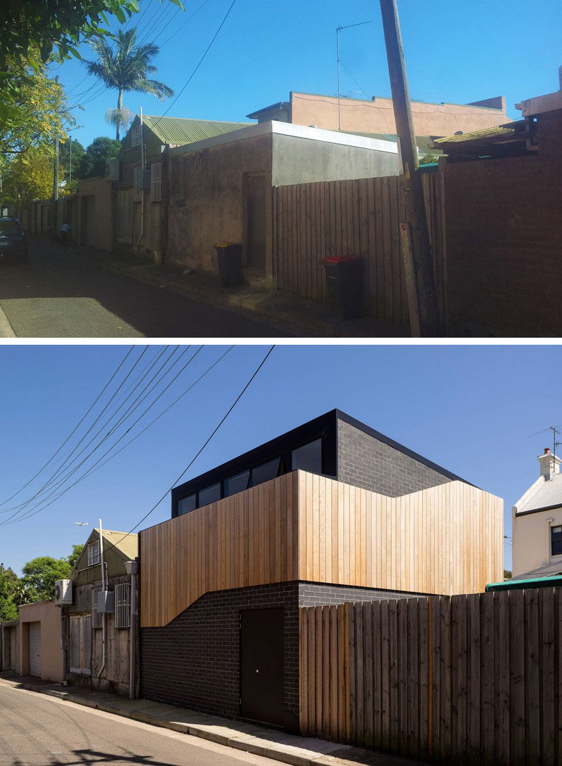 House Renovation Ideas - 17 Inspirational Before & After Projects // This contemporary remodel transformed an old shed into an art studio and home office in the backyard of a house in Sydney, Australia.
