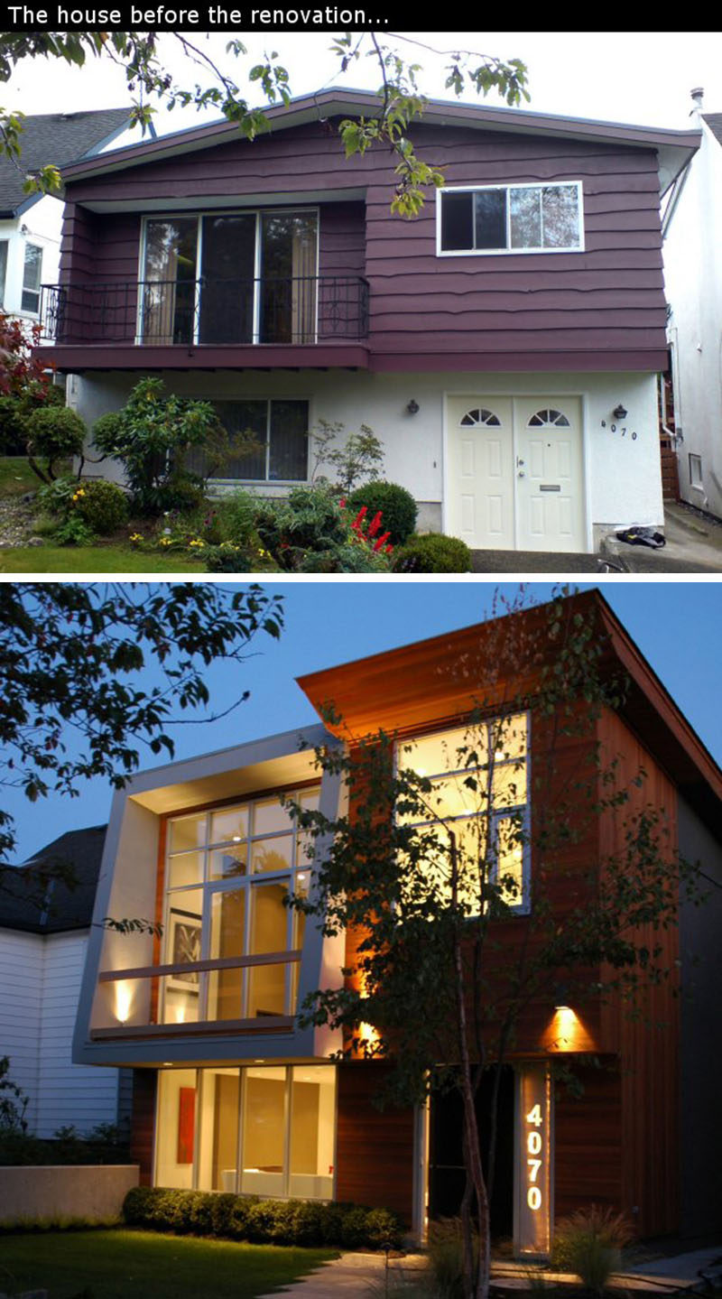"House Renovation Ideas - 17 Inspirational Before & After Projects // This 1960's ""Vancouver Special"" house in Vancouver's Dunbar neighbourhood received a complete redesign."