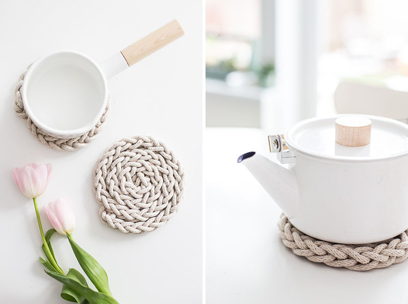 5 Essentials You Need When Hosting An Awesome Modern Tea Party // Make sure you protect your table from the hot kettle with a modern trivet of some kind.