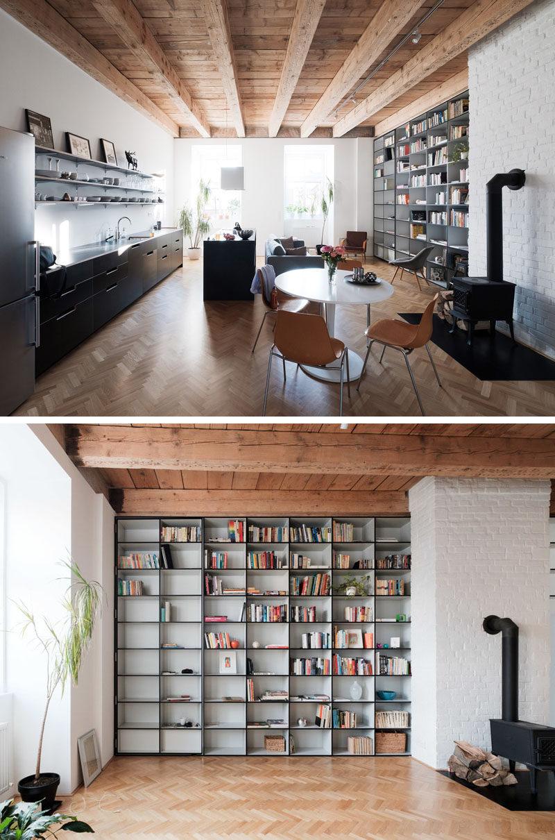 A Bedroom Is Hidden Behind A Secret Doorway In This Apartment